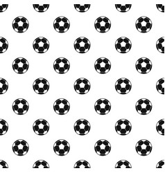 Football soccer ball pattern vector
