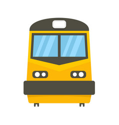Front train icon flat style vector