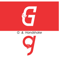 G - letter abstract icon amp hands logo design vector