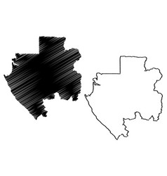 gabon map vector image