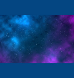 Galaxy night starry sky infinite space universe vector