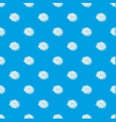 Gerber flower pattern seamless blue vector