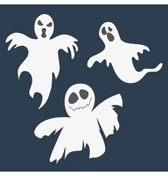 Ghosts Set of icons for Halloween vector image