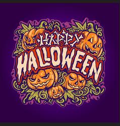 happy halloween jack o lantern background vector image