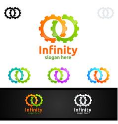 Infinity loop logo icon unlimited infinity vector