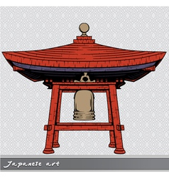 Japanese bell shelter vector