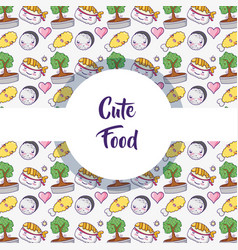 japanese food background pattern vector image