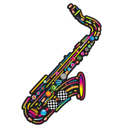 Jazzy colorful music background vector