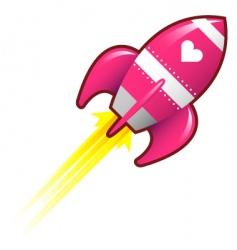 Love rocket vector