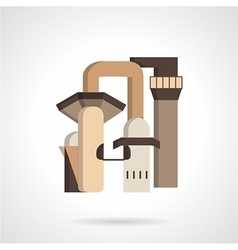 Metallurgy factory flat icon vector