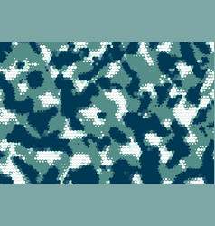 military camouflage army fabric halftone texture vector image