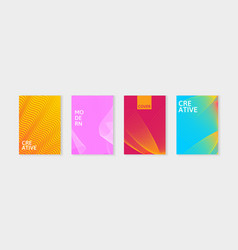minimal covers design set simple shapes with vector image