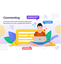 online audience activity poster template vector image