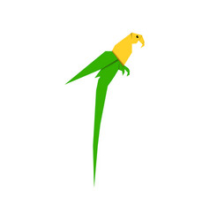 parrot flat icon cockatoo isolated icon vector image