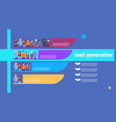 people lead generation steps stages business vector image