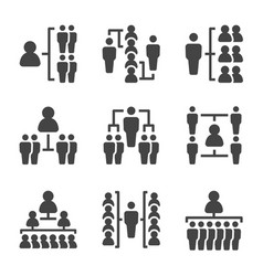 People organization icon set vector