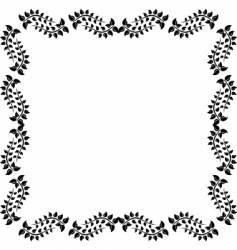 Revival design frame vector
