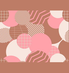 seamless pattern with circles 1980s style vector image