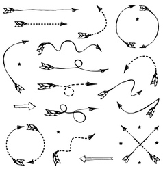 Set of graphic arrows for your design vector