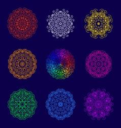 Set of ornaments vector image