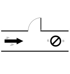 silhouette arrow direction for the exit vector image