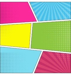 Six comic speech bubble background pop art vector