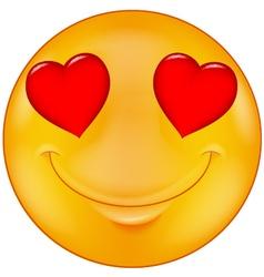 Smiley in love vector