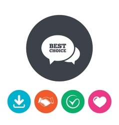 Speech bubble best choice icon Special offer vector image