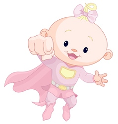 Super baby girl vector