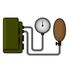 Tonometer Flat Style on White vector image