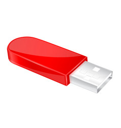 Usb flash drive red memory stick vector