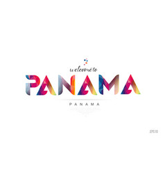Welcome to panama panama city card and letter vector