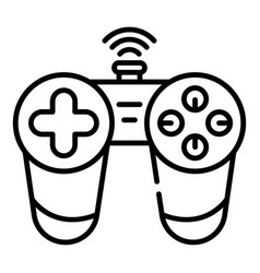 Wireless joystick icon outline style vector