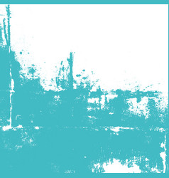 abstract wall painted in turquoise color vector image vector image