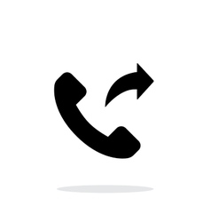 Call forwarding simple icon on white background vector image