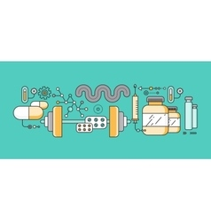 Concept study of human medicine vector image vector image