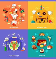food spot compositions set vector image