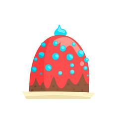 happy birthday party cake sweet dessert cartoon vector image vector image
