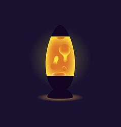 liquid lamp orange lava lamp on dark background vector image