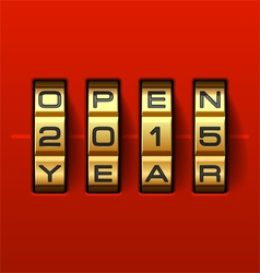 Open new 2015 year card vector image