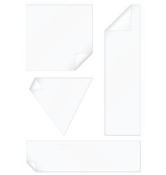 peeled corners stickers set vector image