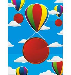 balloons frame circle vector image