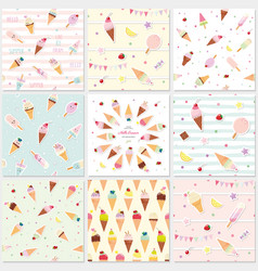 festive seamless pattern set with sweets ice vector image vector image
