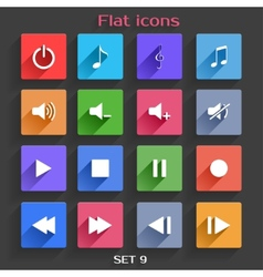 Flat Application Icons Set 9 vector image