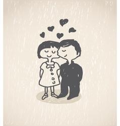 In love vector image vector image