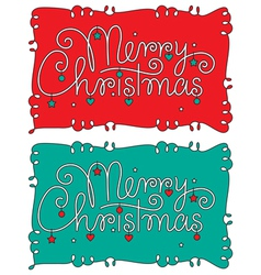 merry christmas hand lettering vector image vector image