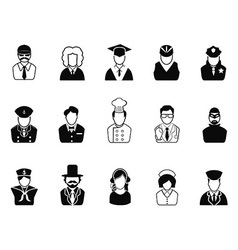 Occupations Avatars User Icons set vector image vector image