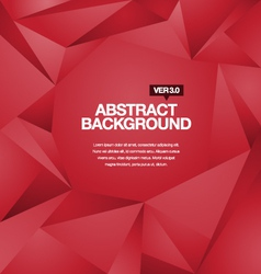 Polygonal Background Red vector image vector image