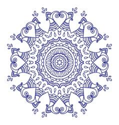 purple doodle paisley mandala hand drawn vector image vector image