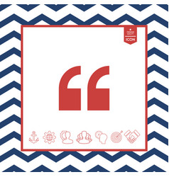 quote icon vector image